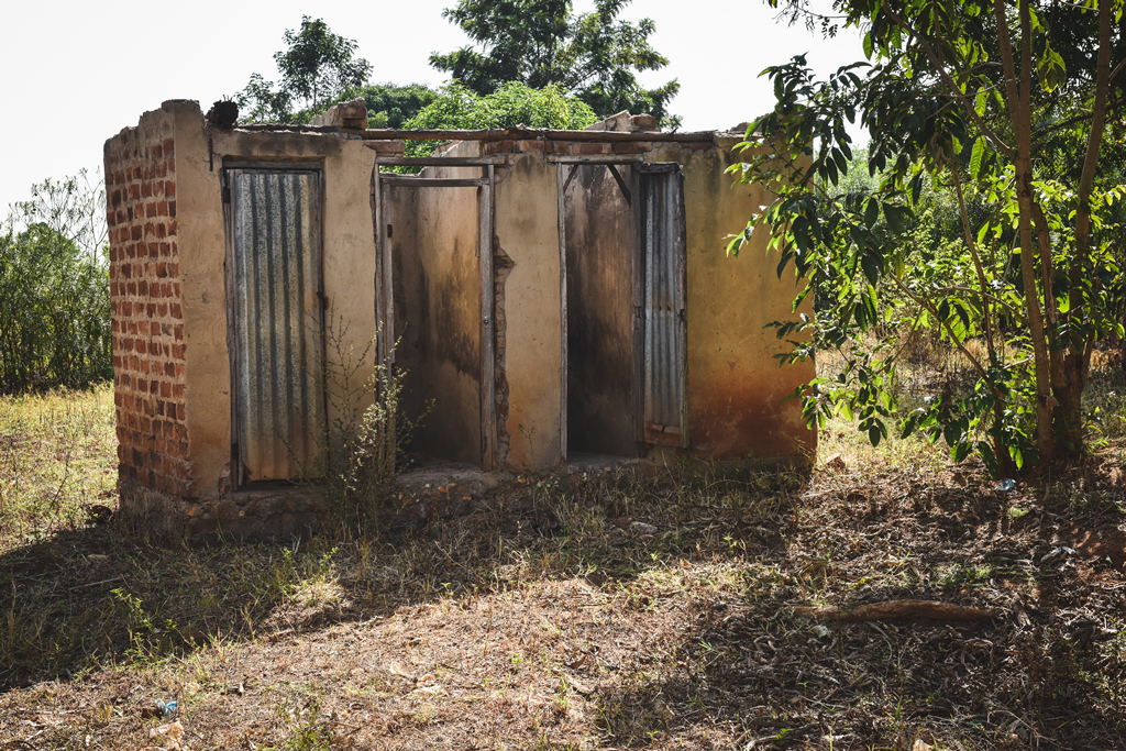 Ugandan teachers' latrines = BEFORE