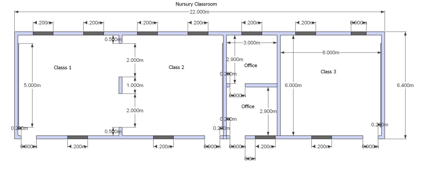 Nursery School Classrooms - floor plan - Oct 2012