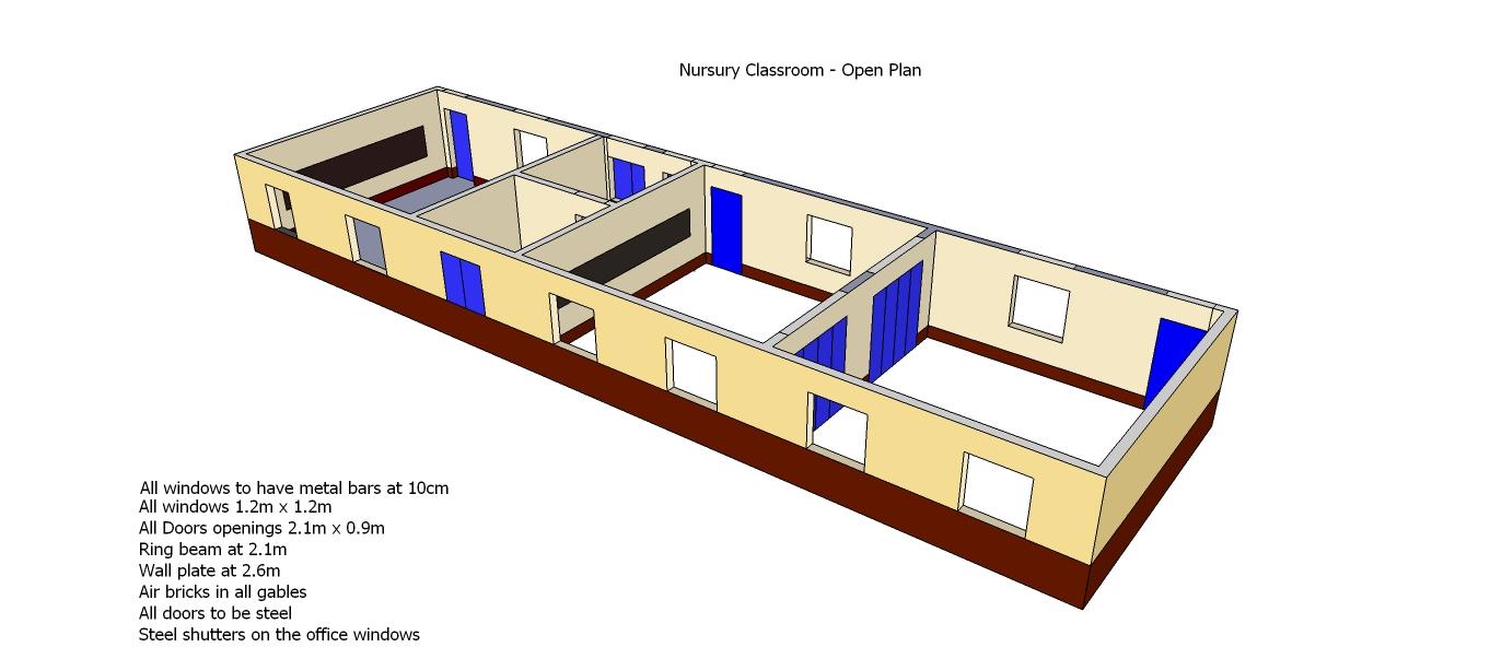 Nursery School Classrooms - open view