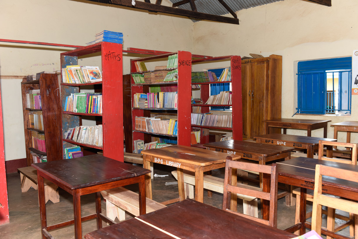 Library furniture & textbooks