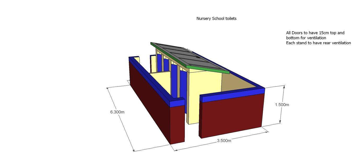 Nursury school latrines - front view