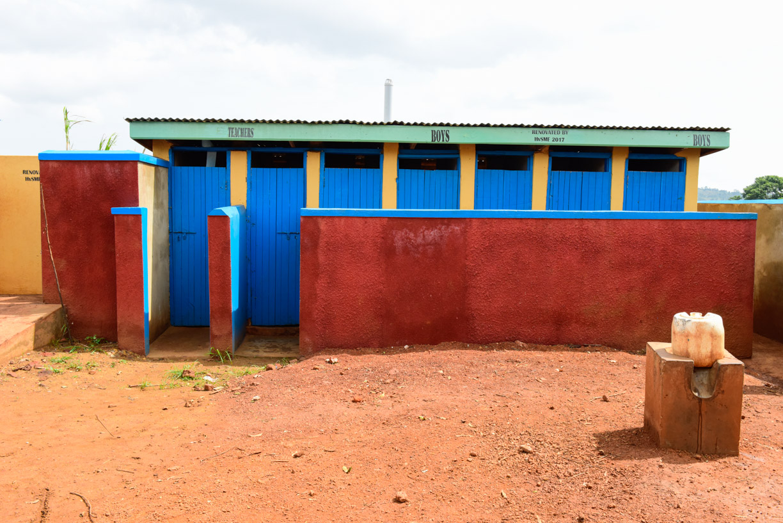 Renovated latrines to inc 5 boys and 2 teachers