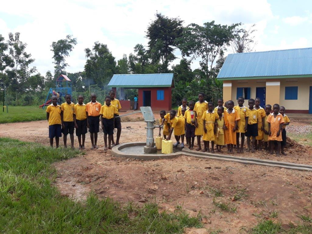 Matuumu - new borehole and kitchen with some EAP apparatus in background