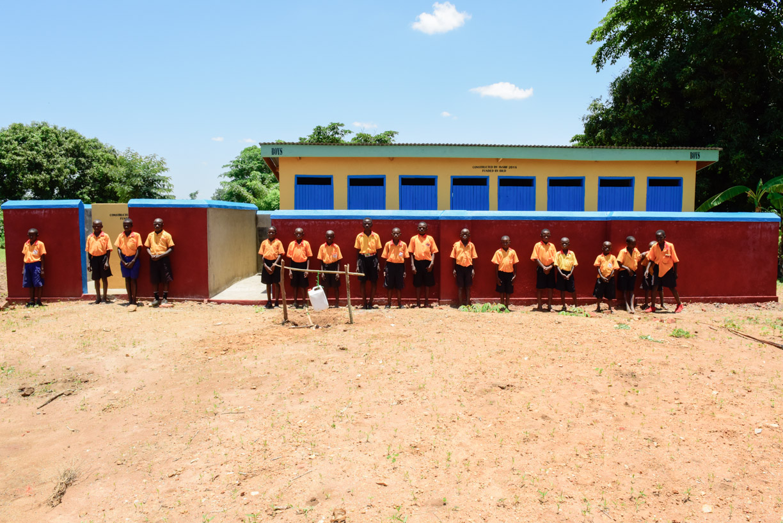 New boys' latrines