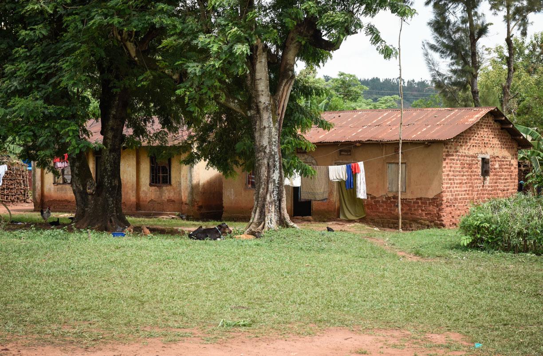 Typical Ugandan teachers house