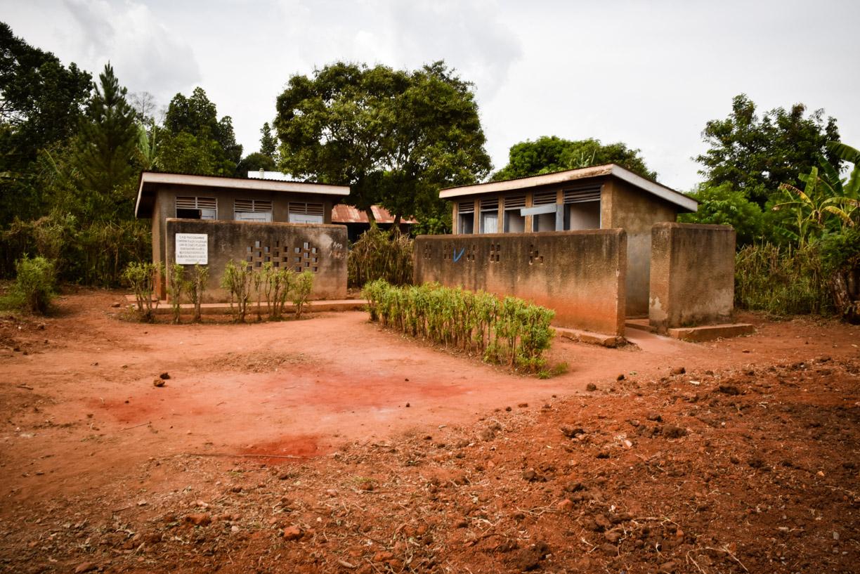 Typical Ugandan latrines