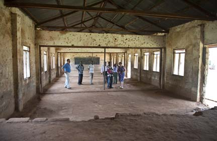 Inside classrom block before renovation