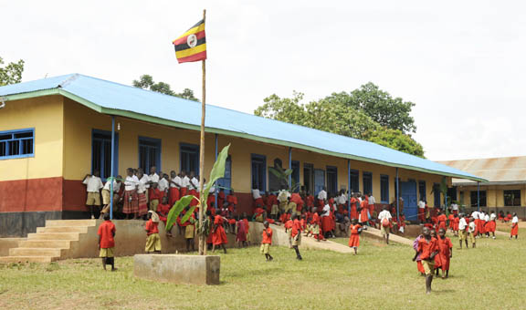 The renovated 4 classroom block with large hall