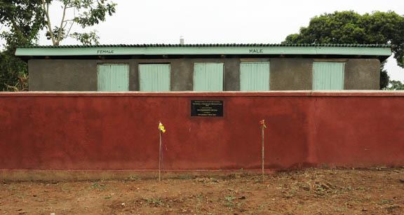 new teachers' latrines and washroom