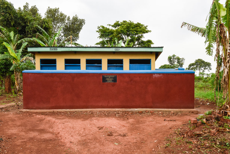 Renovated block of 3 girls' and  2 teachers' latrines