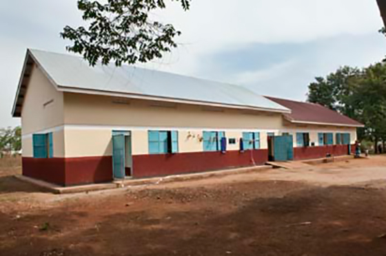 2 completed girls dormitories