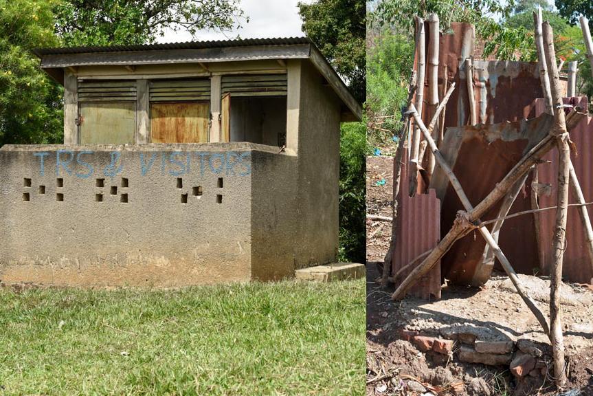 Ugandan teachers latrines & washroom