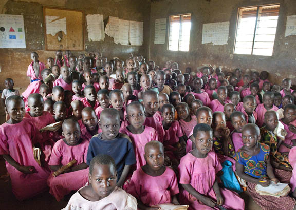 Children who do have a classroom are often in classes of over 150