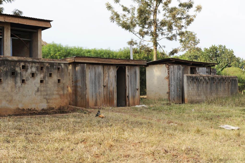 Ugandam latrines all needing to be replaced