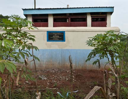 4 girls' latrines with washroom behind