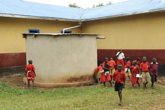 Muguluka Primary School water tank