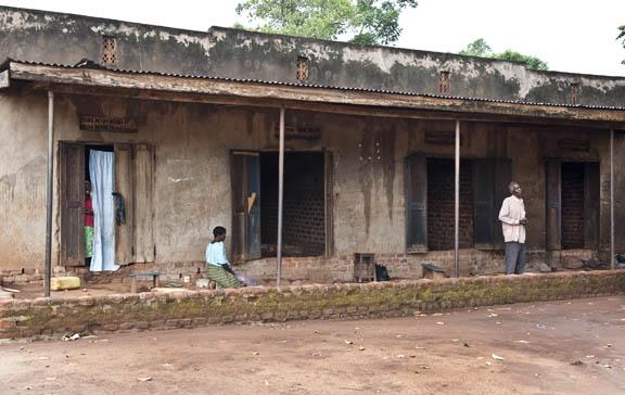 Typical Ugandan teachers' houses
