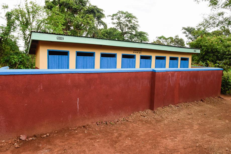 New girls' latrines